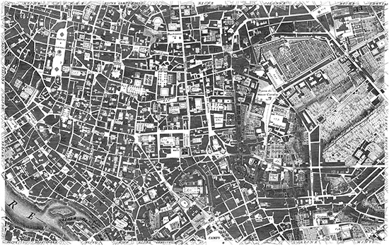 The New Plan of Rome by Giambattista Nolli, 1748.