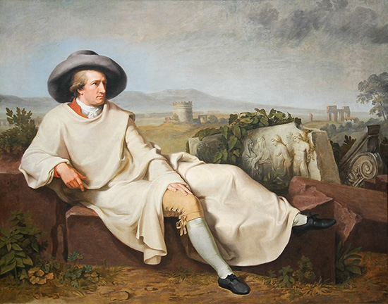 Tischbein, Goethe in the Roman Campagna, 1787.