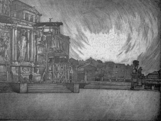Carlo Cainelli, Vittoriano - Altare della Patria, Museo d'arte moderna e contemporanea di Trento e Rovereto, 1920.