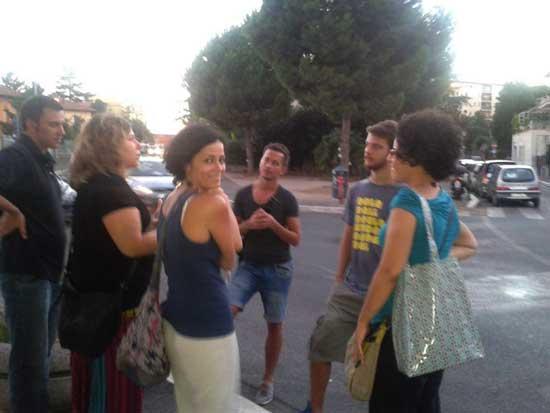 Studenti Romit in visita al Pigneto.